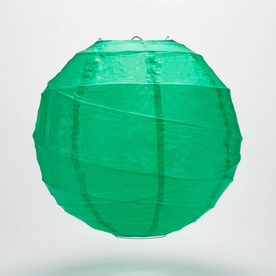 "6"" Arcadia Teal Round Paper Lantern, Crisscross Ribbing, Hanging Decoration - AsianImportStore.com - B2B Wholesale Lighting and Decor"