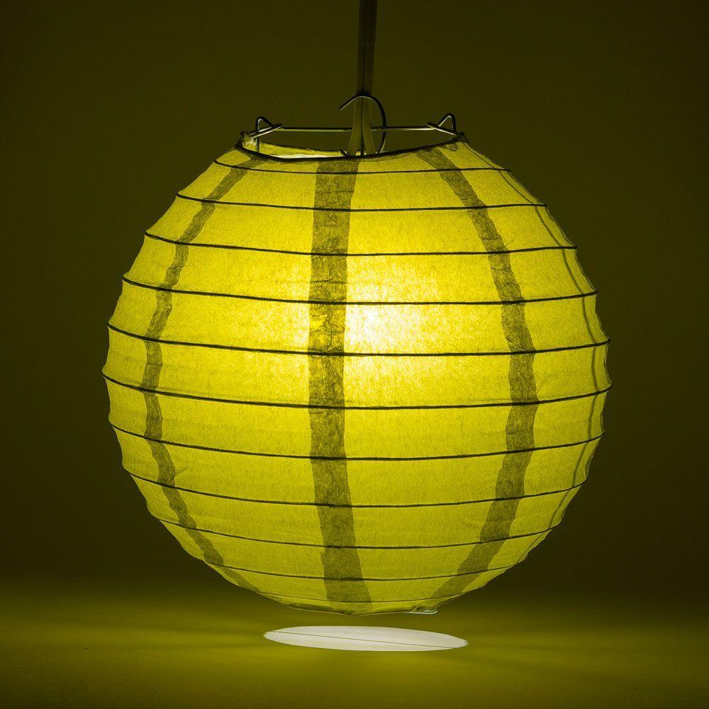 "24"" Pear Round Paper Lantern, Even Ribbing, Chinese Hanging Wedding & Party Decoration - AsianImportStore.com - B2B Wholesale Lighting and Decor"