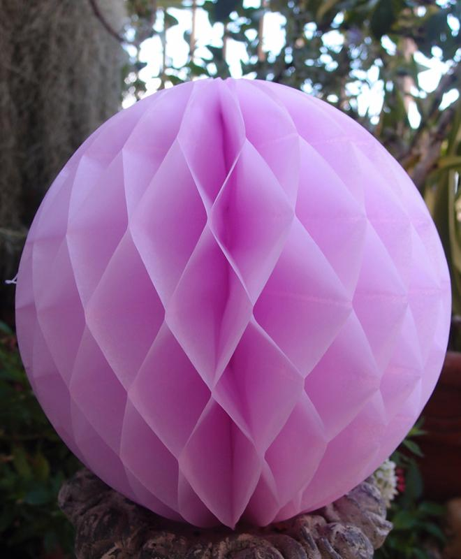 "BLOWOUT 8"" Pink Round Tissue Lantern, Honeycomb Ball, Hanging (3 PACK)"