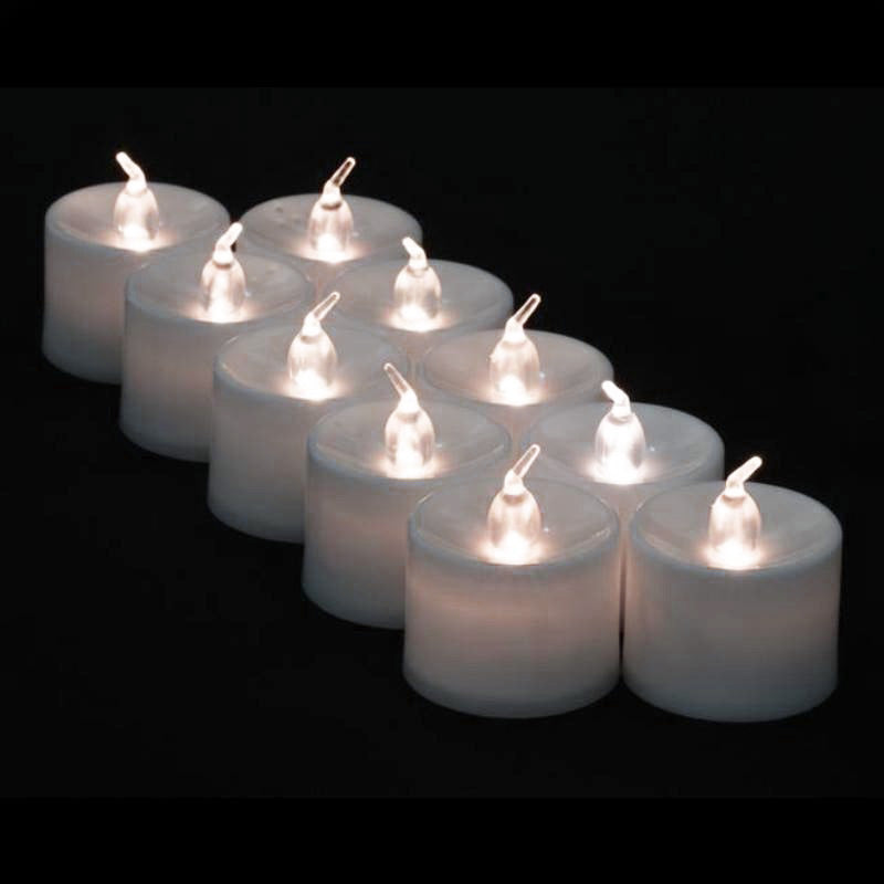 Large White Flameless LED Battery Operated Candle (12 Pack) - AsianImportStore.com - B2B Wholesale Lighting and Decor