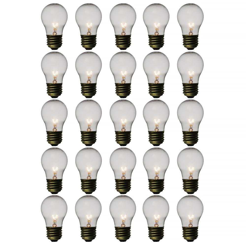 Clear 15-Watt Incandescent A15 Standard Replacement Light Bulbs, E26 Medium Base (25 PACK) - AsianImportStore.com - B2B Wholesale Lighting and Decor