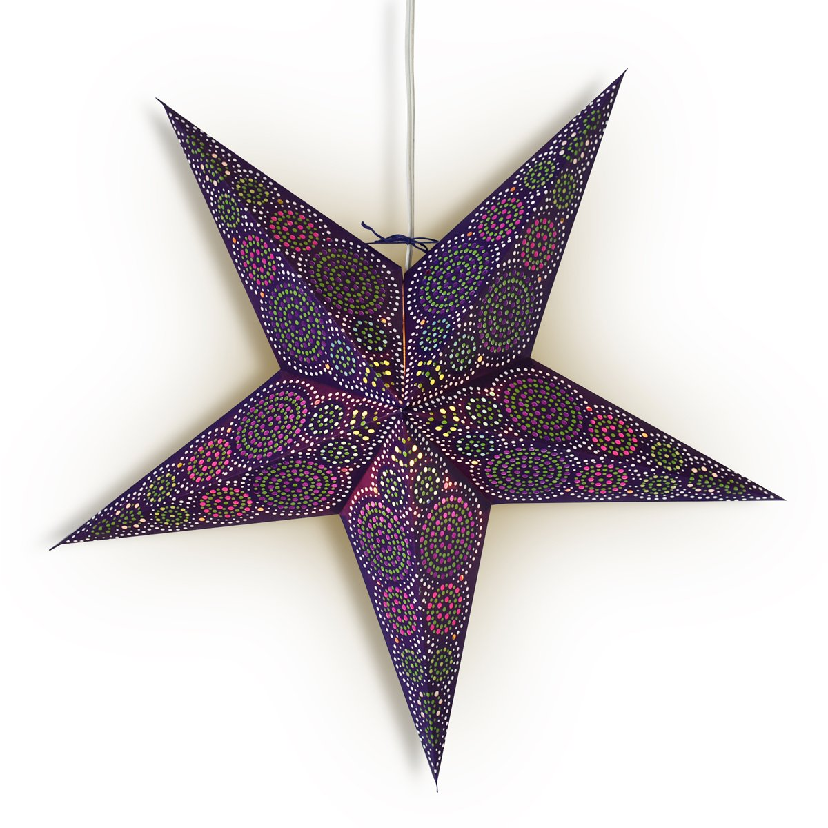 "24"" Blue Aussie Paper Star Lantern, Hanging Wedding & Party Decoration - AsianImportStore.com - B2B Wholesale Lighting and Decor"