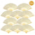 "9"" Beige / Ivory Silk Hand Fans for Weddings (10 Pack)"