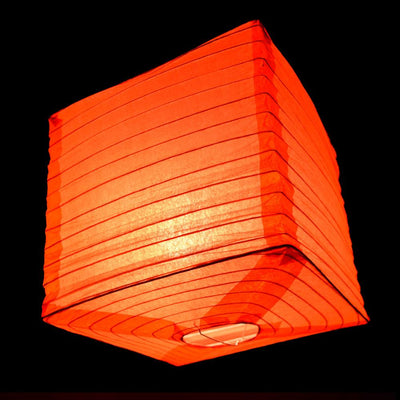 "10"" Red Square Shaped Paper Lantern"