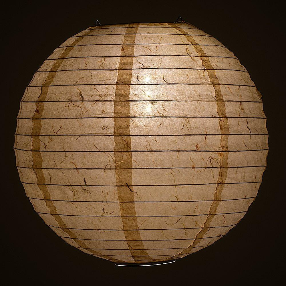 "12"" Cloud Dragon Japanese Kozo Unryu Fibrous Paper Lantern Shade, Hanging Decoration"