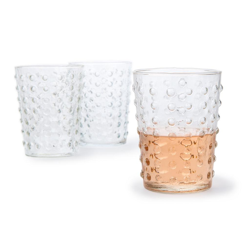 10 Ounce Clear Hobnail Design Glass Tumbler Drinkware - AsianImportStore.com - B2B Wholesale Lighting and Decor