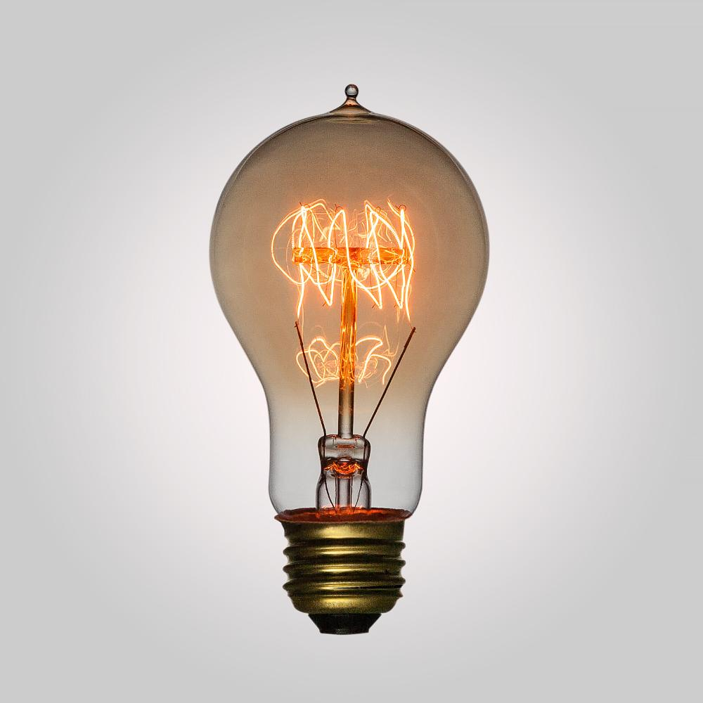 40-Watt Incandescent A19 Vintage Edison Light Bulb, Quad-Loop Filament, E26 Medium Base