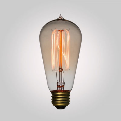 40-Watt Incandescent ST58 Vintage Edison Light Bulb, Squirrel Cage Filament, E26 Medium Base