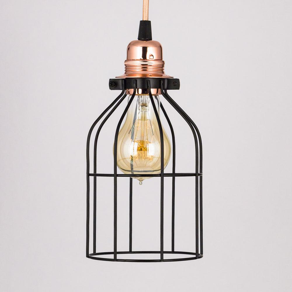Bottle Shaped Vintage Edison Light Bulb Cage for Pendant Lightss *Bulb Cage Only