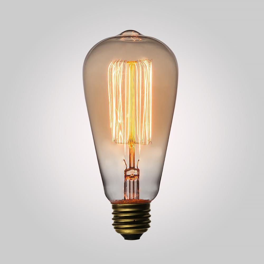 25-Watt Incandescent ST58 Vintage Edison Light Bulb, Squirrel Cage Filament, E26 Base - AsianImportStore.com - B2B Wholesale Lighting and Decor