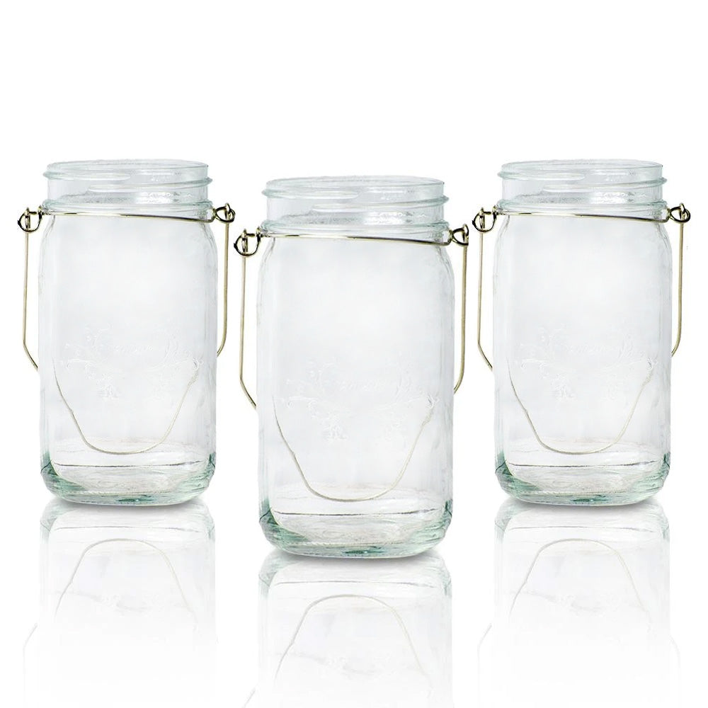 (24-Pack Master Case) Fantado Regular Mouth Clear Mason Jar with Handle, 16oz / 1 Pint - AsianImportStore.com - B2B Wholesale Lighting and Decor
