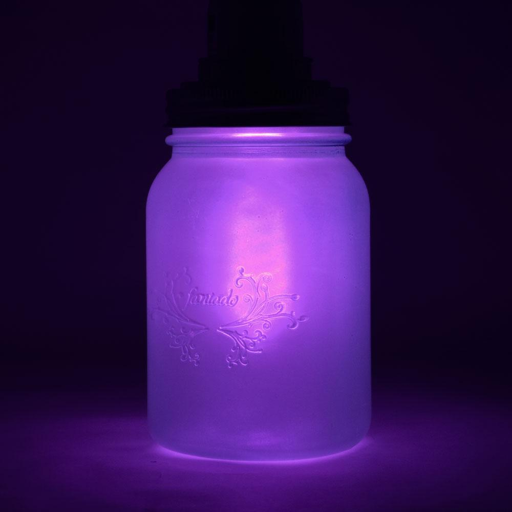 (24-Pack Master Case) Fantado Regular Mouth Frosted Lavender Mason Jar w/ Handle, 16oz / 1 Pint - AsianImportStore.com - B2B Wholesale Lighting and Decor