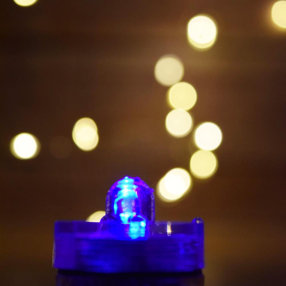 Blue LED Submersible Waterproof Flower Floral Tea Lights (Twist On/Off) (12 Pack) - AsianImportStore.com - B2B Wholesale Lighting and Decor