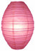 Fuchsia / Hot Pink Kawaii Unique Oval Egg Shaped Paper Lantern, 10-inch x 14-inch