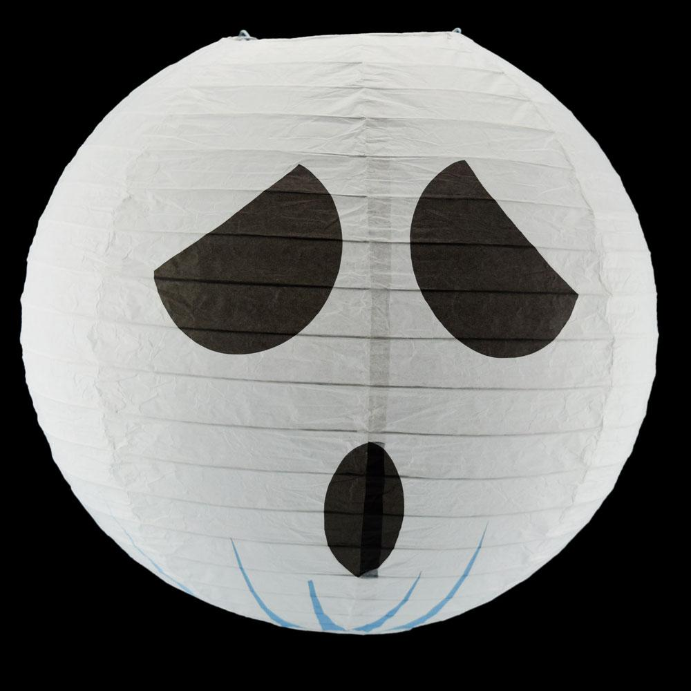 "14"" Spooky Shyguy Two-face Ghost Halloween Paper Lantern, Design by Esper"