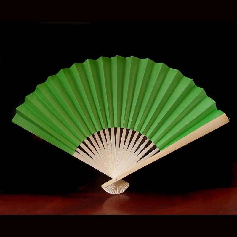 "BLOWOUT 9"" Grass Greenery Paper Hand Fans for Weddings (10 PACK)"