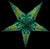 "24"" Green Splash Paper Star Lantern, Chinese Hanging Wedding & Party Decoration"