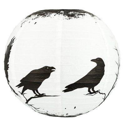 "14"" Halloween Crows Scary Black Birds Paper Lantern, Hanging Decoration - AsianImportStore.com - B2B Wholesale Lighting and Decor"