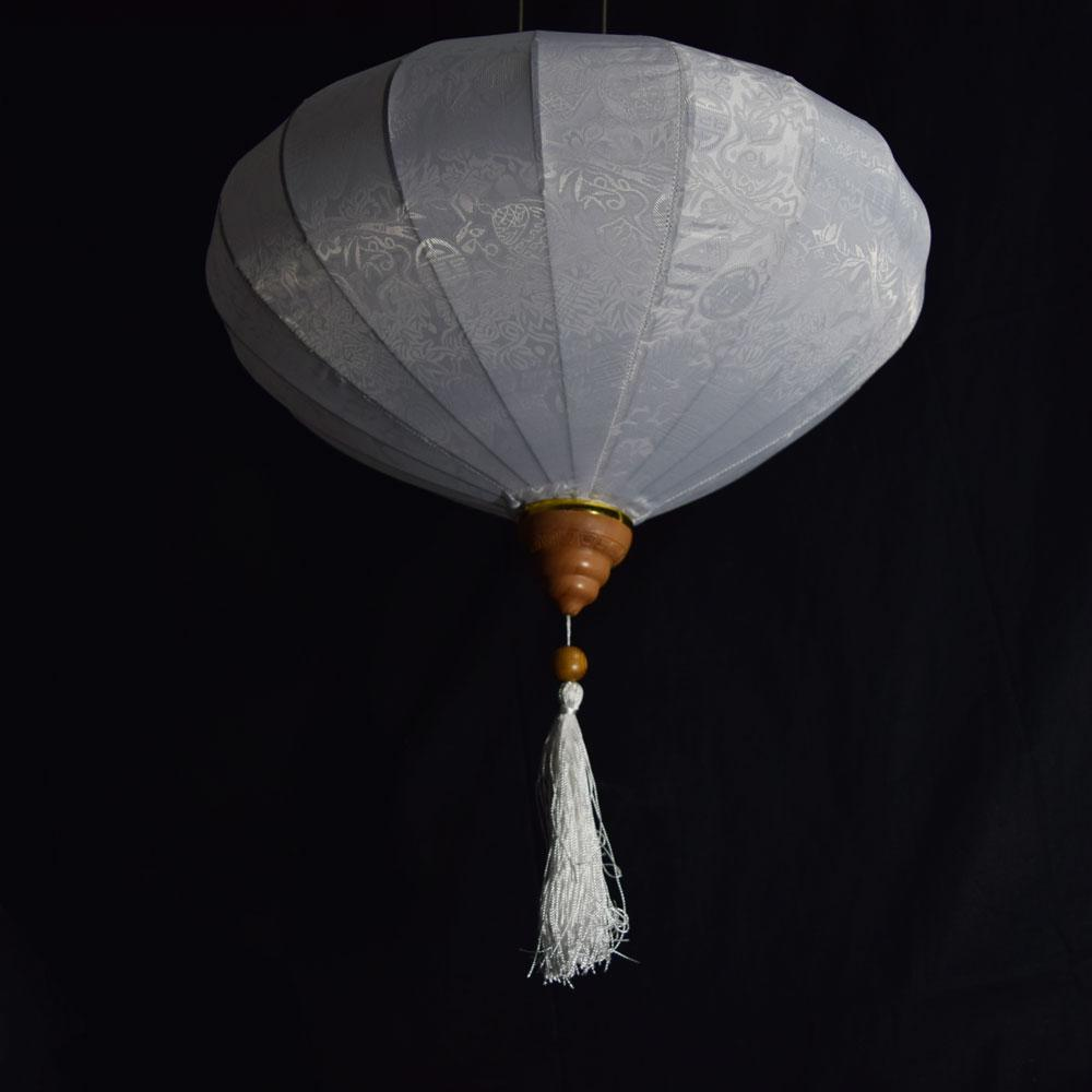 BLOWOUT Extra Large White Vietnamese Silk Lantern, Diamond Shaped