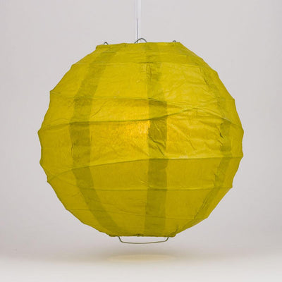 "20"" Pear Round Paper Lantern, Crisscross Ribbing, Chinese Hanging Wedding & Party Decoration"