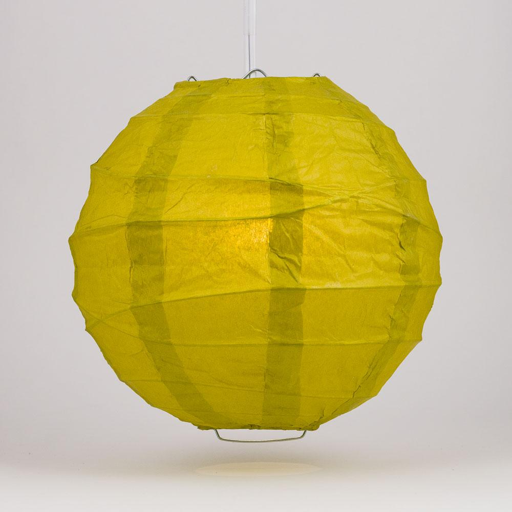 "16"" Pear Round Paper Lantern, Crisscross Ribbing, Chinese Hanging Wedding & Party Decoration"
