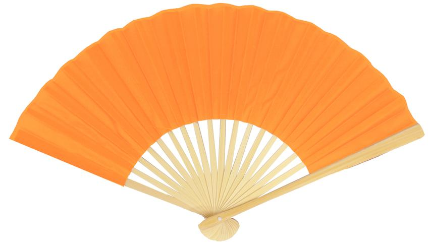 "9"" Orange Silk Hand Fans for Weddings (10 Pack) - AsianImportStore.com - B2B Wholesale Lighting and Decor"