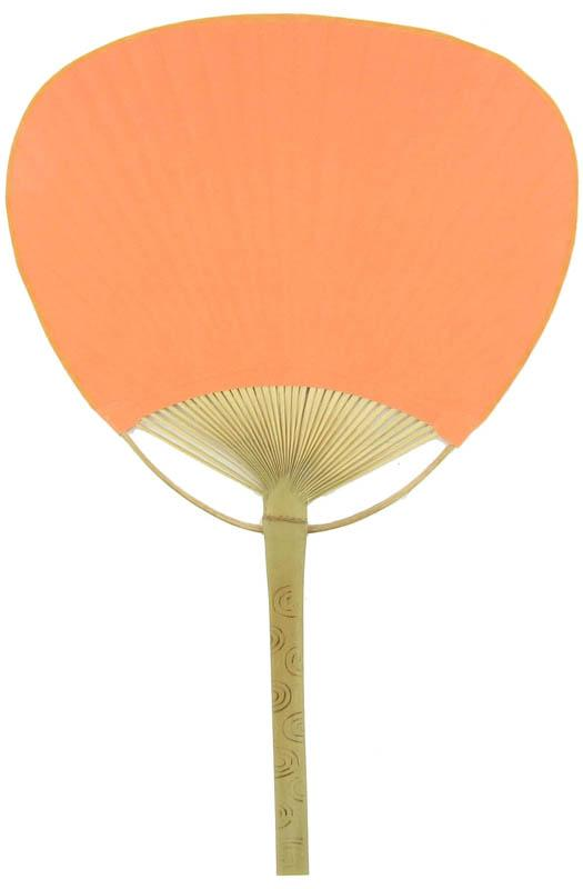 "9"" Orange Paddle Paper Hand Fans for Weddings (10 Pack) - AsianImportStore.com - B2B Wholesale Lighting and Decor"