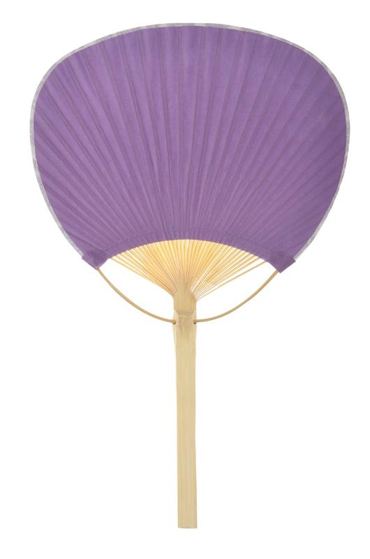 "9"" Purple Paddle Paper Hand Fans for Weddings (10 Pack)"