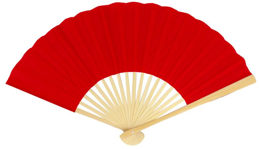 "9"" Red Silk Hand Fans for Weddings (10 Pack)"