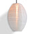 White Kawaii Unique Oval Egg Shaped Nylon Lantern, 10-inch x 14-inch