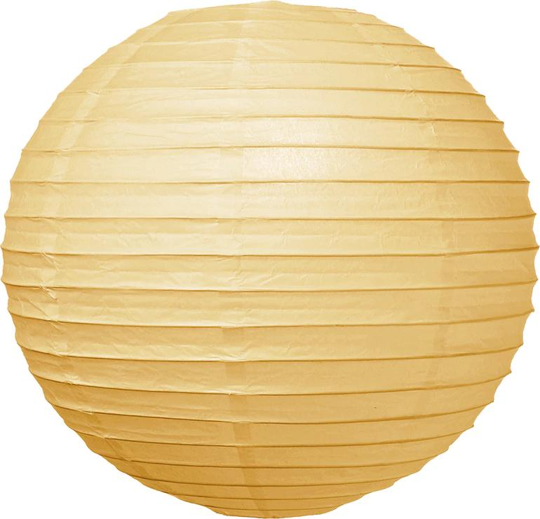 Ivory 18 Inch Round Parallel Ribbed Premium Paper Lantern