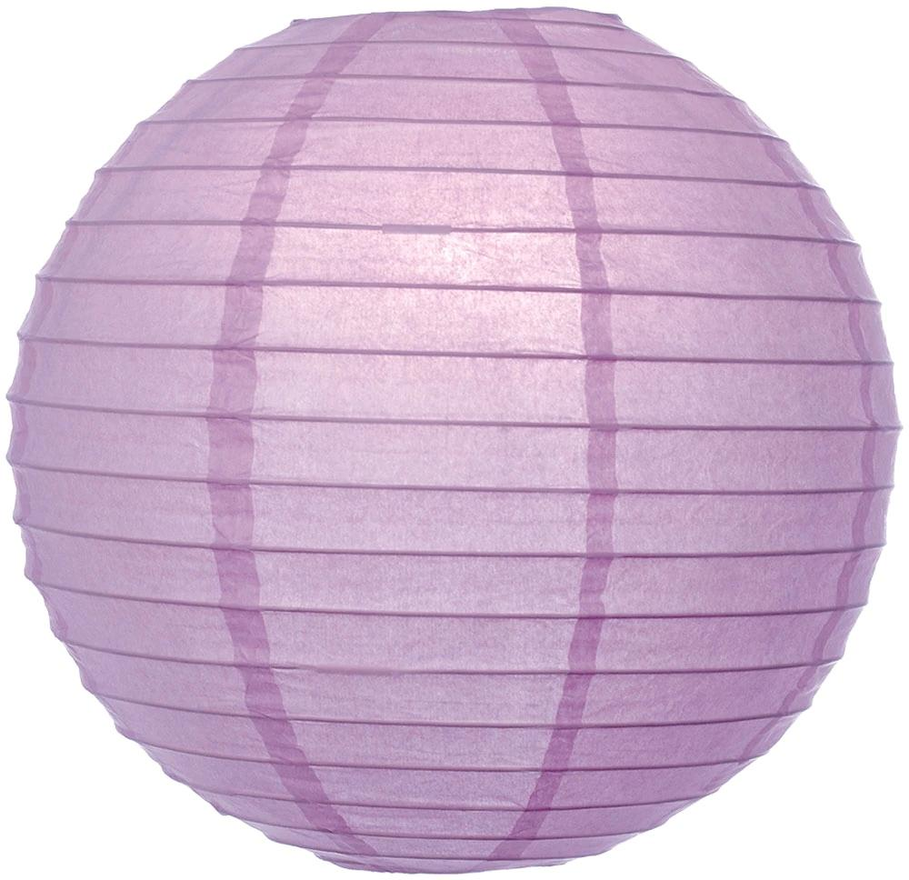 "30"" Lilac Purple Jumbo Round Paper Lantern, Even Ribbing, Chinese Hanging Wedding & Party Decoration"