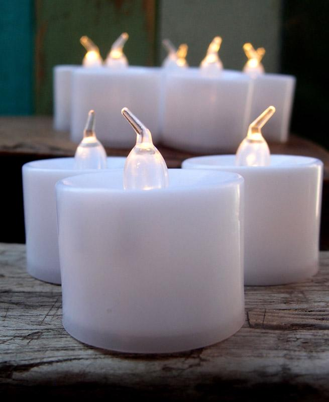 Large Warm White LED Battery Operated Flameless Candles (12 Pack) - AsianImportStore.com - B2B Wholesale Lighting and Decor