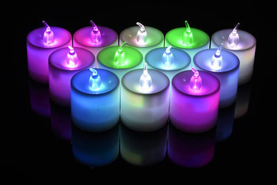 Large RGB (Color Changing) Flameless LED Battery Operated Candle (12 PACK)