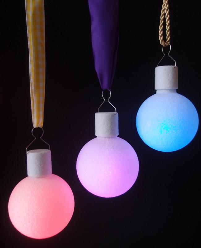 "BLOWOUT 3"" Frosted LED Multi-Color Changing Remote Control Ornament Ball Light (Battery Operated, 5 PACK)"