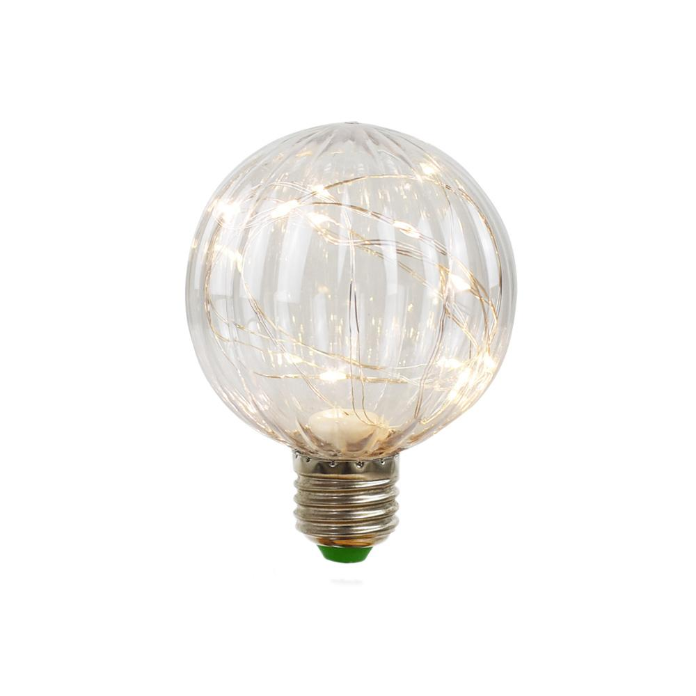 BLOWOUT LED Fairy PG80 Ribbed Edison Shatterproof Light Bulb, E26, 3W(25W Equivalent)