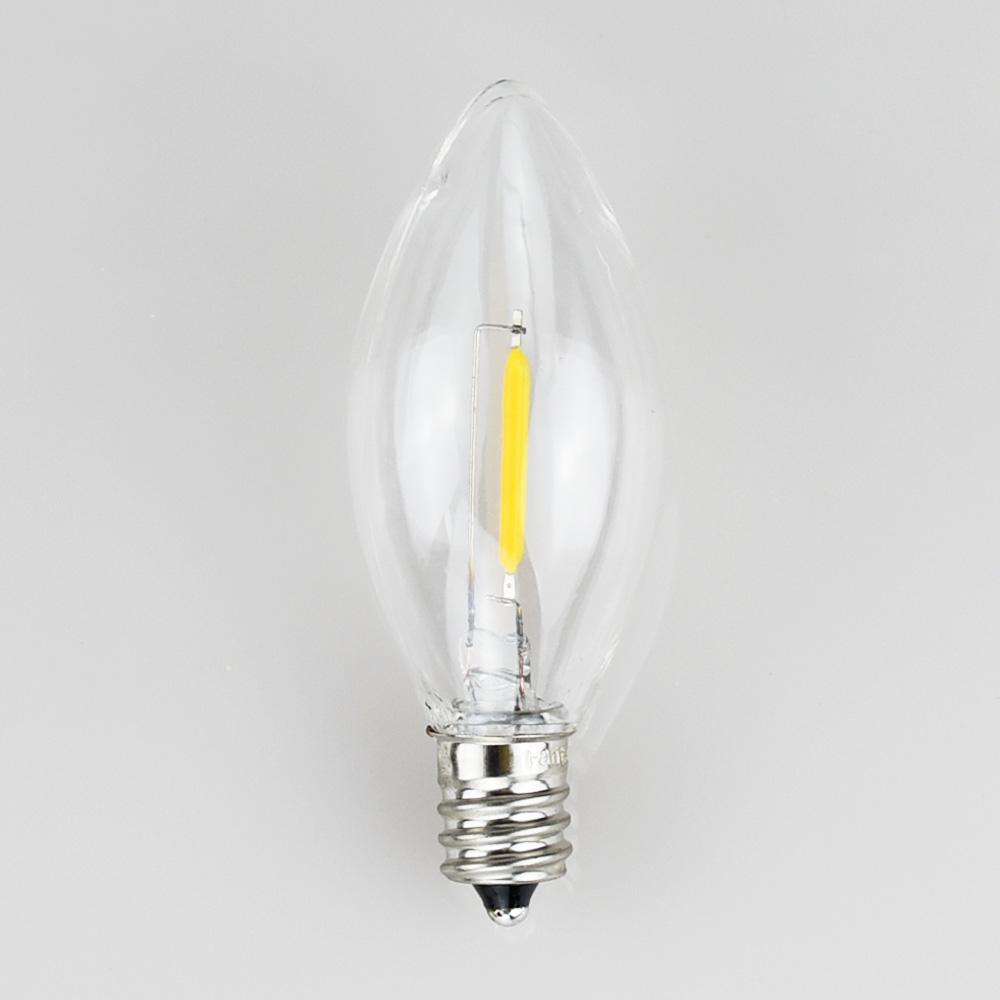 LED Filament E12 Candelabra Shatterproof Light Bulb, Dimmable, 0.6W,  E12 Base