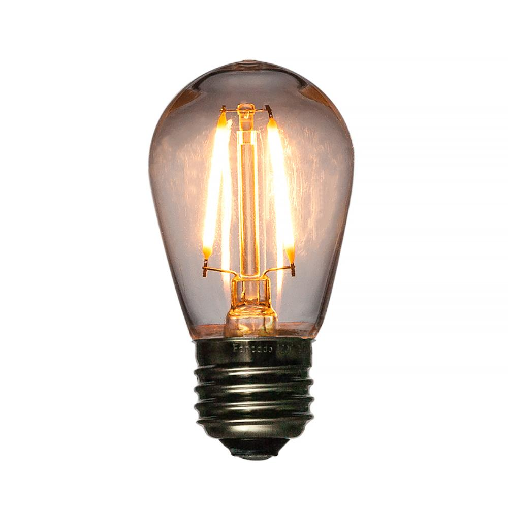 LED Filament S14 Shatterproof Energy Saving Light Bulb, Dimmable, 2W,  E26 Medium Base, Break-Resistant