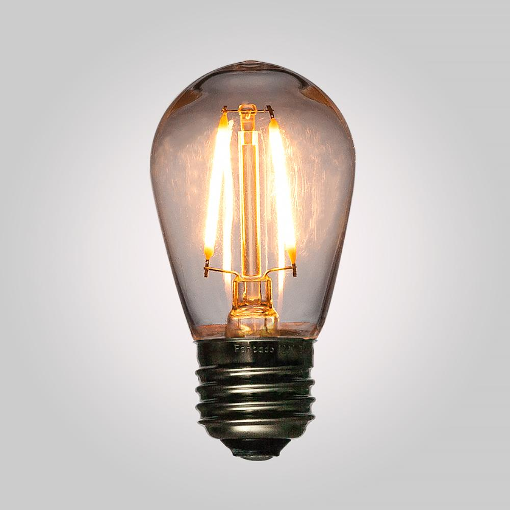 LED Filament S14 Shatterproof Energy Saving Light Bulb, Dimmable, 2W,  E26 Medium Base - AsianImportStore.com - B2B Wholesale Lighting and Decor