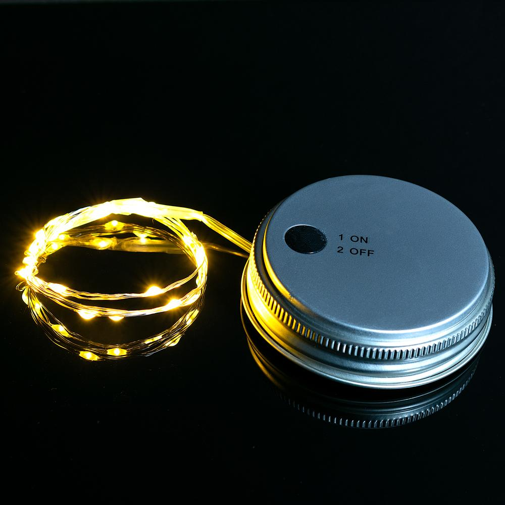Fantado MoonBright™ LED Mason Jar Lights, Battery Powered for Regular Mouth - Warm White (Lid Light Only)