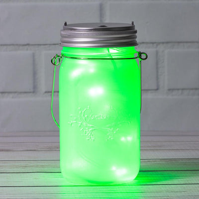 BLOWOUT MoonBright™ LED Mason Jar Light, Battery Powered for Wide Mouth - Green (Lid Light Only)