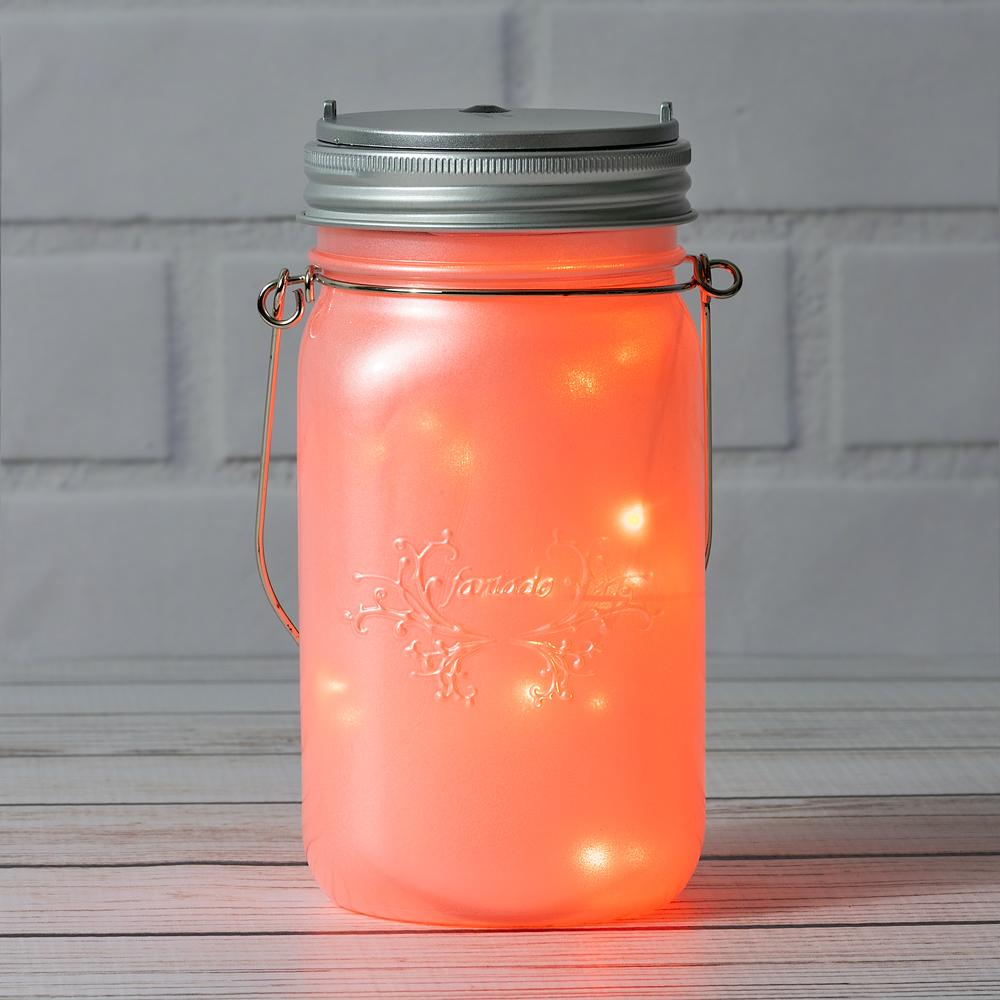 BLOWOUT MoonBright™ LED Mason Jar Light, Battery Powered for Wide Mouth - Orange (Lid Light Only)