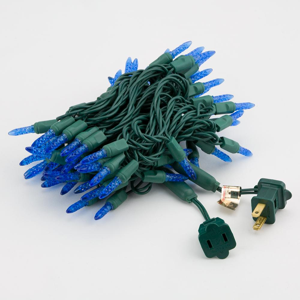BLOWOUT 70 Outdoor Blue LED M6 Mini String Lights, 23.6 FT Green Cord, Weatherproof, Expandable