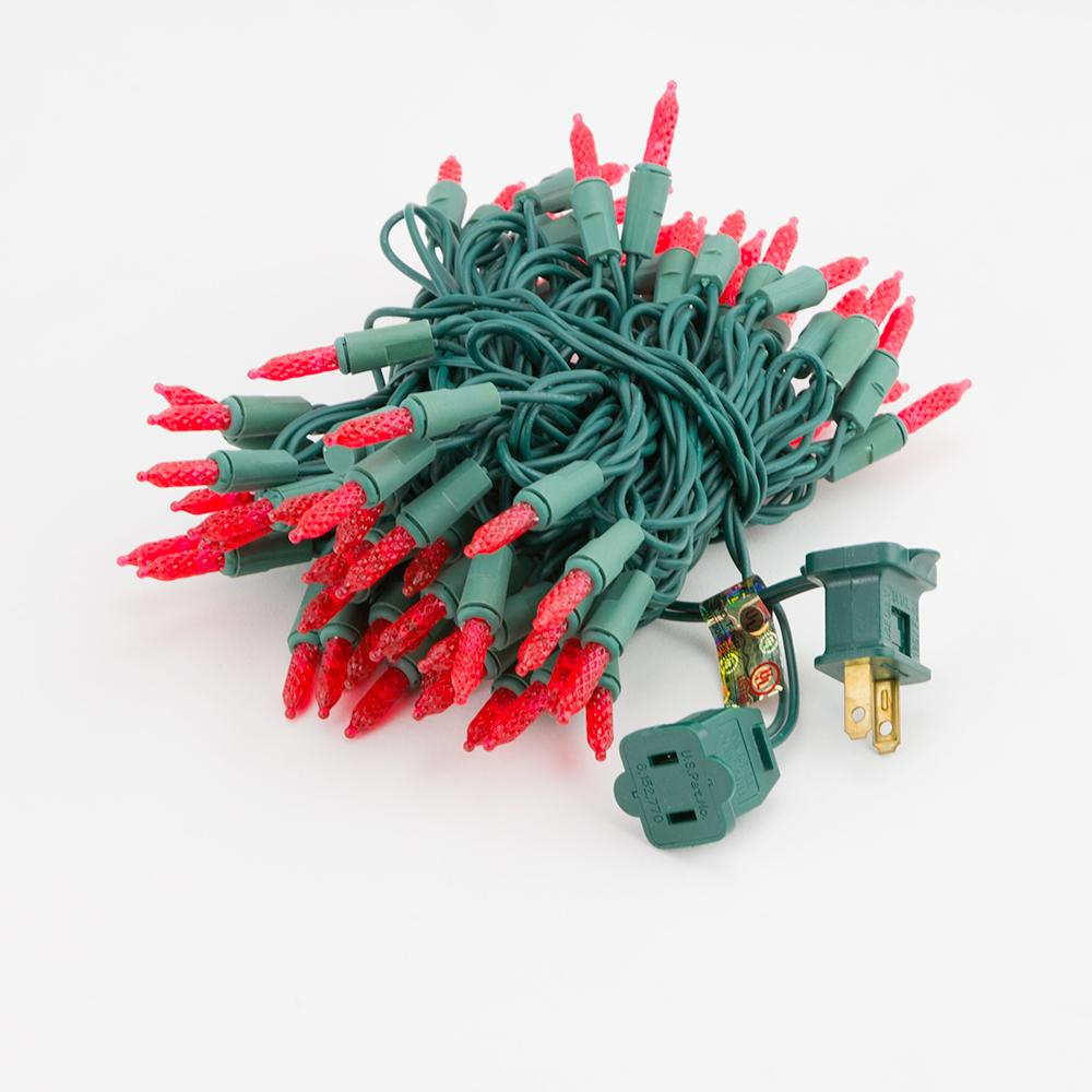 BLOWOUT 70 Outdoor Red LED M6 Mini String Lights, 23.6 FT Green Cord, Weatherproof, Expandable