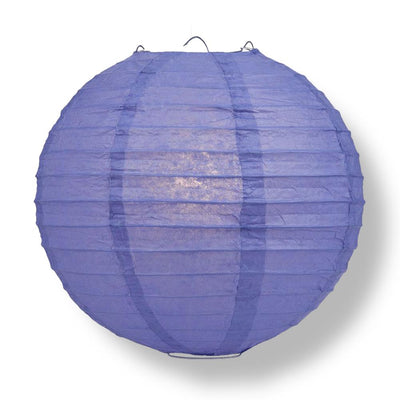 "36"" Astra Blue Jumbo Round Paper Lantern, Even Ribbing, Chinese Hanging Wedding & Party Decoration"