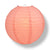 "12"" Roseate / Pink Coral Round Paper Lantern, Even Ribbing, Chinese Hanging Wedding & Party Decoration - AsianImportStore.com - B2B Wholesale Lighting and Decor"