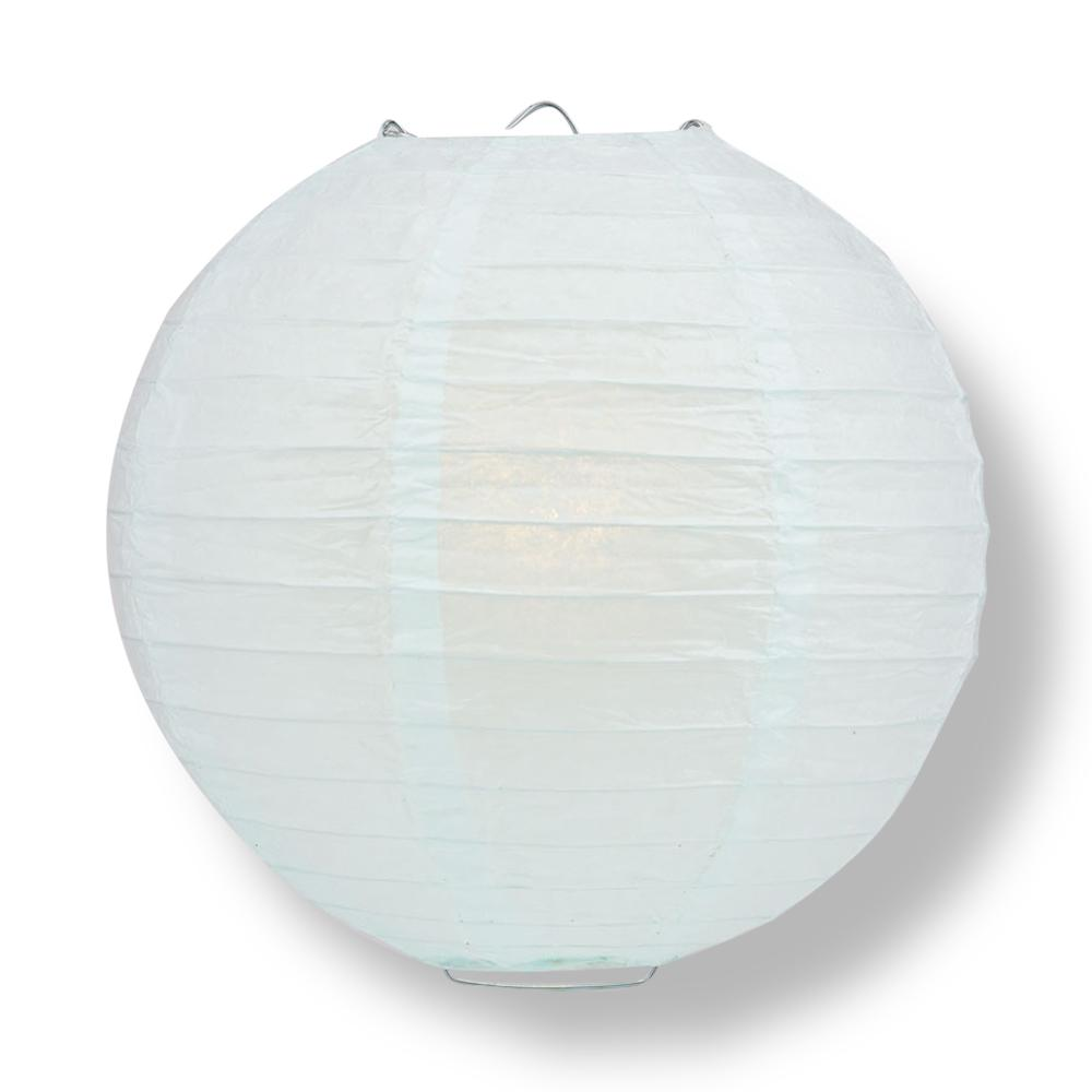 "12"" Arctic Spa Blue Round Paper Lantern, Even Ribbing, Chinese Hanging Wedding & Party Decoration - AsianImportStore.com - B2B Wholesale Lighting and Decor"