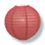 "10"" Marsala / Burgundy Wine Round Paper Lantern, Even Ribbing, Chinese Hanging Wedding & Party Decoration"