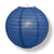 "12"" Navy Blue Round Paper Lantern, Even Ribbing, Chinese Hanging Wedding & Party Decoration"