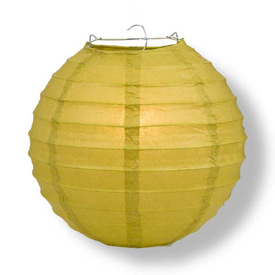 "20"" Pear Round Paper Lantern, Even Ribbing, Chinese Hanging Wedding & Party Decoration - AsianImportStore.com - B2B Wholesale Lighting and Decor"